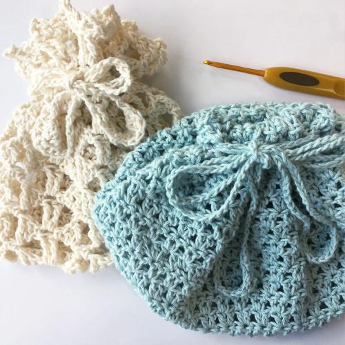 かぎ編み巾着